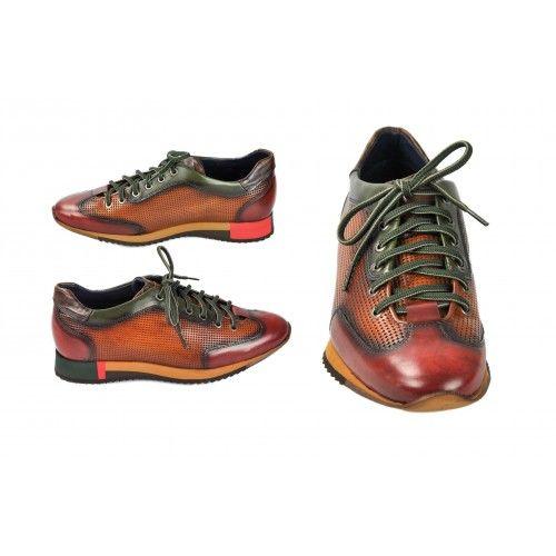 Sneakers marron à lacets