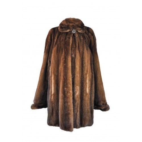 Manteau long en vison demi...