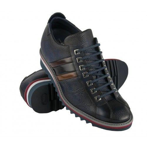 Sneakers en cuir à taille...