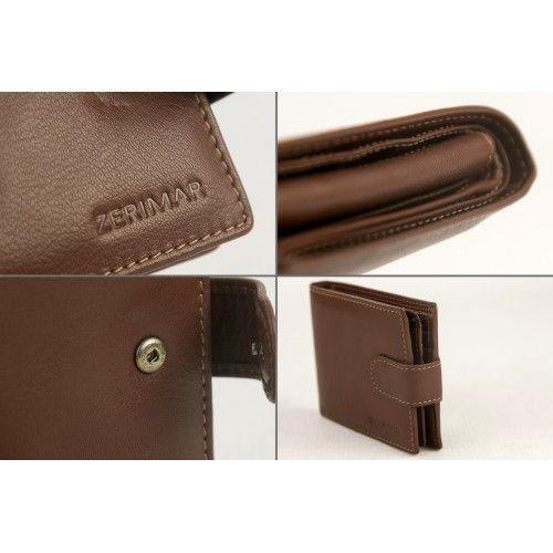 Portefeuille en cuir avec porte-cartes 11,5x9cm Zerimar - 2
