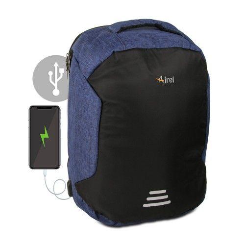 Sac à dos avec chargeur portable pour téléphone portable 45x36x18 cm Airel - 1