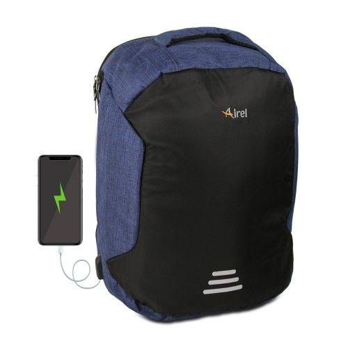 Sac à dos avec chargeur portable pour téléphone portable 45x36x18 cm Airel - 2