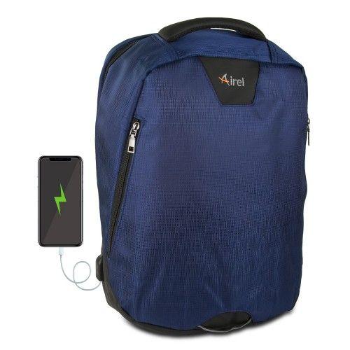 Sac à dos avec chargeur portable pour téléphone portable 41x35x15 cm Airel - 1