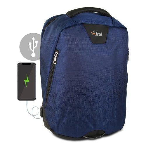 Sac à dos avec chargeur portable pour téléphone portable 41x35x15 cm Airel - 2