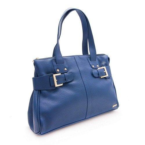 Sac en cuir couleur bleu...