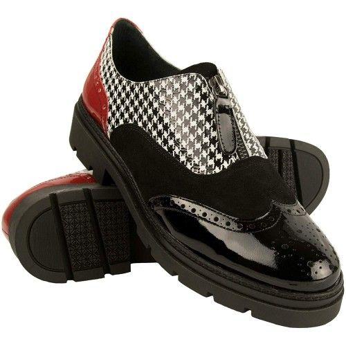 Chaussures richelieu élégantes en cuir - fabriqué en espagne Zerimar - 1
