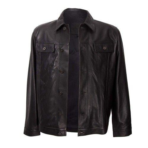 Veste en cuir pour homme avec fermeture boutonnée sur le devant Zerimar - 2