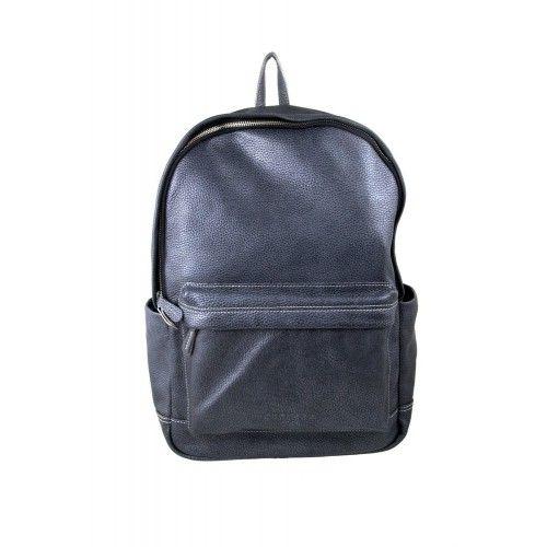Sac à dos en cuir style casual avec poche avant 43x30x13 cm Zerimar - 1