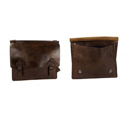 Sac à bandoulière en cuir vintage 32,5x39x7 cm Zerimar - 2