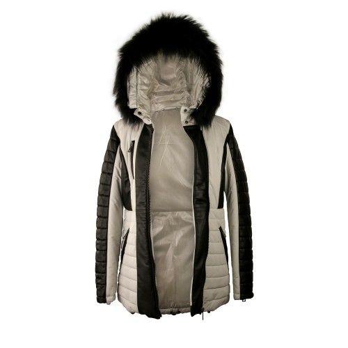 Manteau Napa bicolore avec...