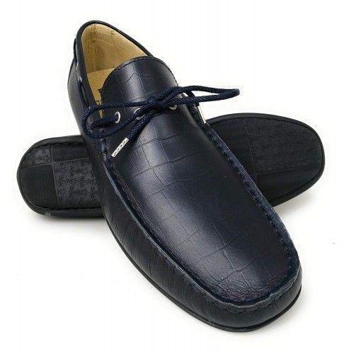 Chaussures bateau en cuir pour hommes - grandes tailles 47 à 50 Zerimar - 1