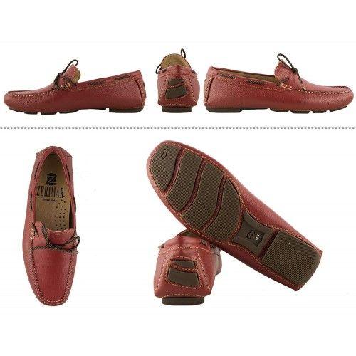 Chaussures bateau cuir pour homme - grandes tailles 47 à 50 Zerimar - 2