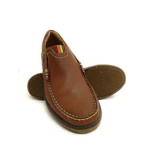 Chaussures en cuir pour homme type mocassin couleur bleu marine Zerimar - 1