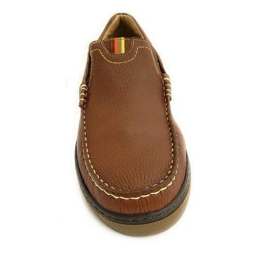 Chaussures en cuir pour homme type mocassin couleur bleu marine Zerimar - 2