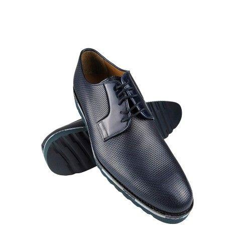 Chaussures farbiquées en cuir avec un design élégant pour hommes Zerimar - 1