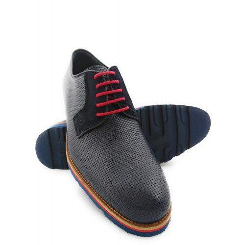 Chaussures oxford pour homme couleur bleu marine Zerimar - 1