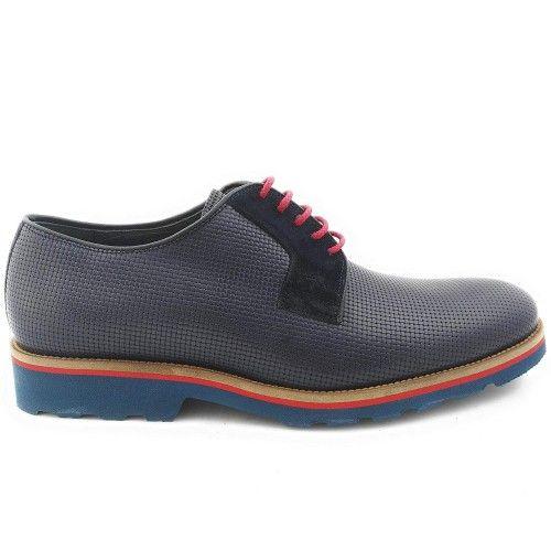 Chaussures oxford pour homme couleur bleu marine Zerimar - 2