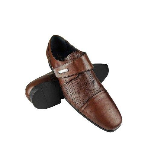 Chaussures élégantes en cuir pour hommes couleur cuir Zerimar - 1