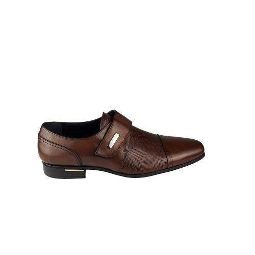 Chaussures élégantes en cuir pour hommes couleur cuir Zerimar - 2