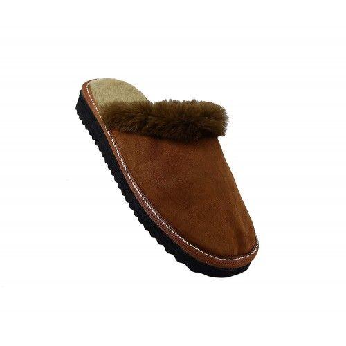 Pantoufles pour l'hiver en cuir naturel double face Zerimar - 1