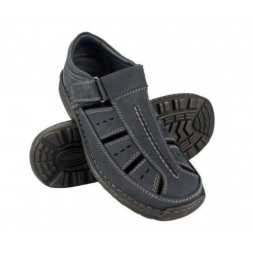 Sandales trekking en cuir...