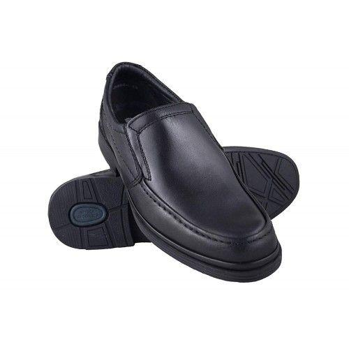 Chaussures pour serveur, barman et hotellerie en cuir couleur marron Zerimar - 1
