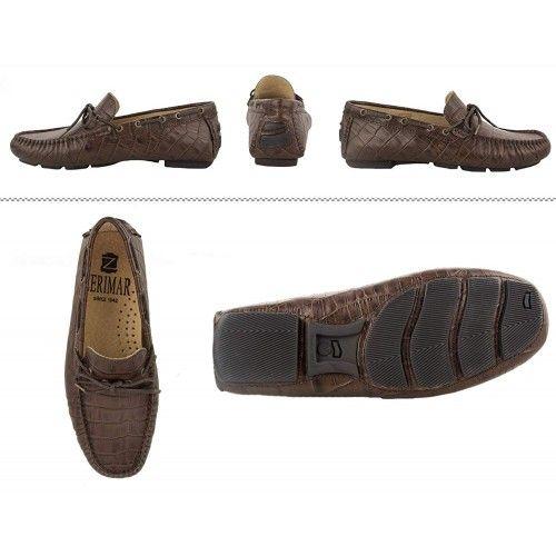 Chaussures nautiques d'été en cuir pour hommes Zerimar - 8