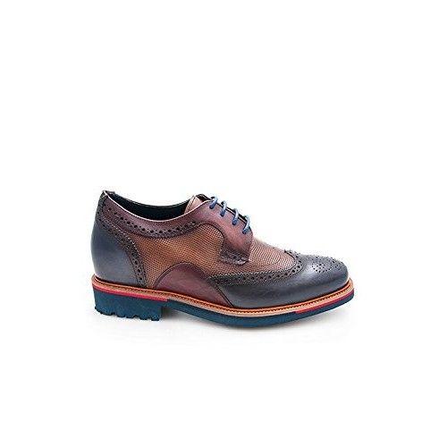 Chaussures rehaussantes de 7 cm pour homme couleur bleu marine Zerimar - 2