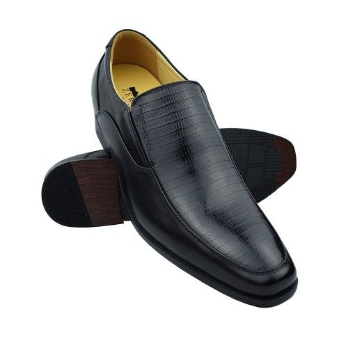 Chaussures rehaussantes en cuir avec rehaussement de 7 cm Zerimar - 1