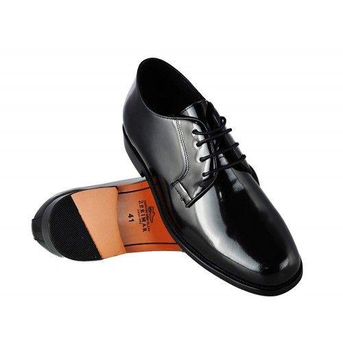 Chaussures en cuir avec hausse intérieure de 7 cm pour homme Zerimar - 1