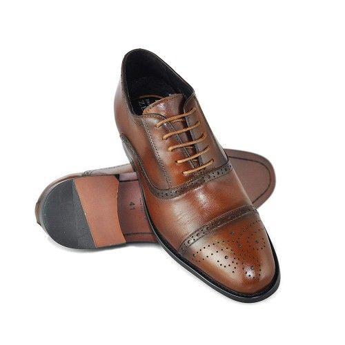 Chaussures en cuir pour hommes avec 7 cm d'augmentation intérieure Zerimar - 1