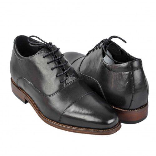 Chaussures en cuir pour homme avec rehaussement intérieure de 7 cm Zerimar - 1