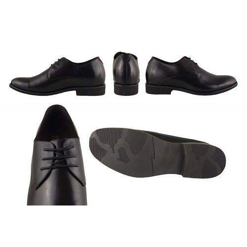 Chaussures en cuir et rehaussantes de 6,5 cm couleur marron Zerimar - 2