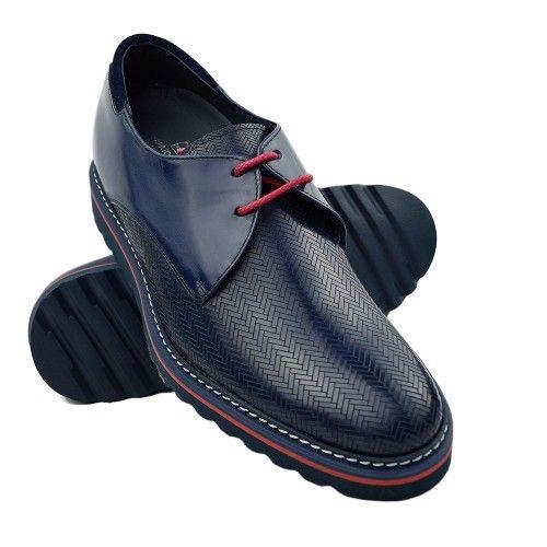 Chaussures rehaussantes 7 cm à lacets pour hommes Zerimar - 1