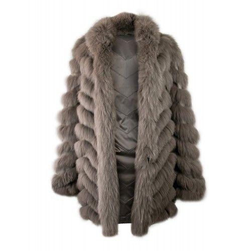 Manteau en renard réversible avec fermeture zippée Zerimar - 2