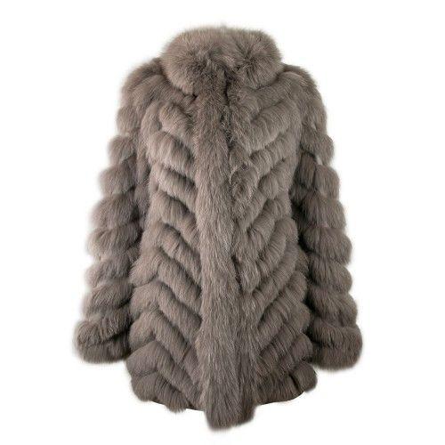 Manteau en renard réversible avec fermeture zippée Zerimar - 1