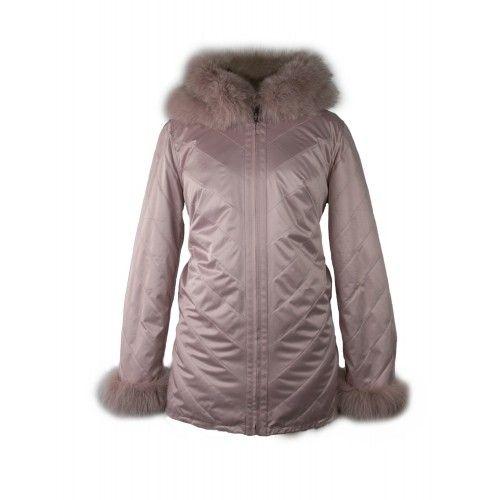 Manteau en renard réversible avec capuche et fermeture zippée Zerimar - 2