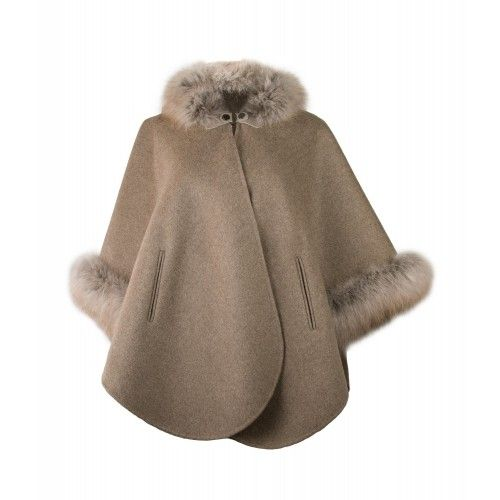 Manteau à col renard...