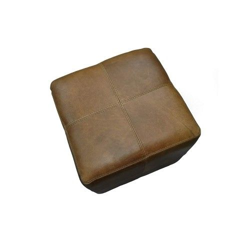 Tabouret en peau de gazelle springbok 40x45x45 cm Zerimar - 1