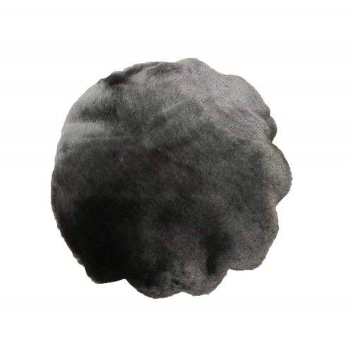 Coussin en peau de mouton rembourré 37 cm diamètre Zerimar - 1