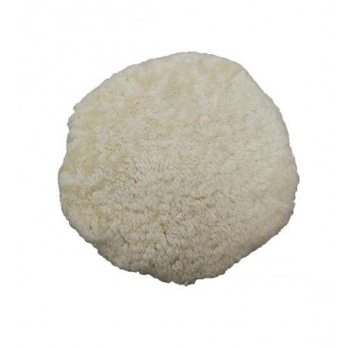 Coussin en peau de mouton rembourré 35 cm diamètre Zerimar - 1