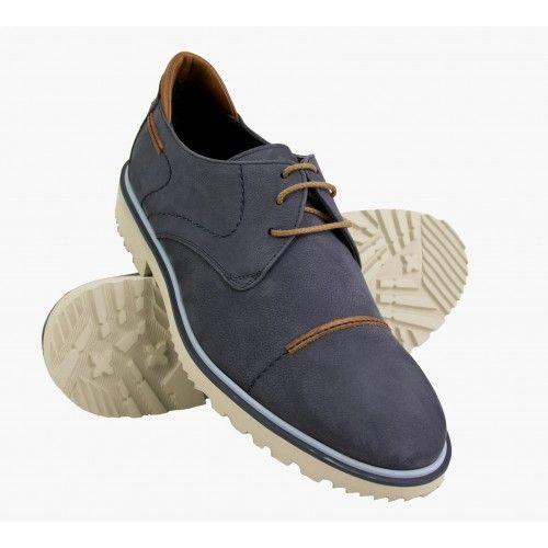 Chaussure d'été en cuir nubuck avec lacets Zerimar - 1