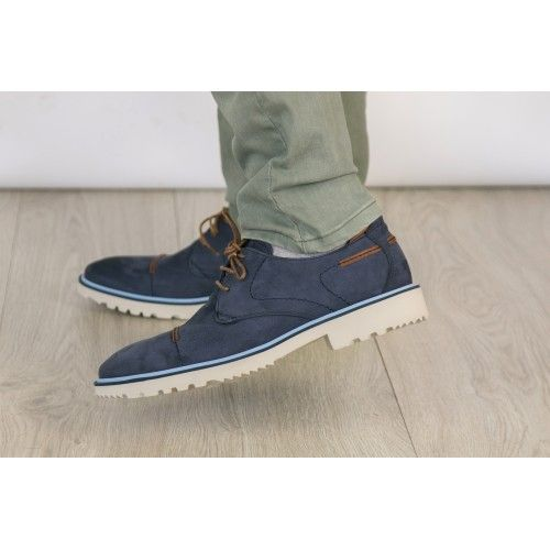 Chaussure d'été en cuir nubuck avec lacets Zerimar - 2