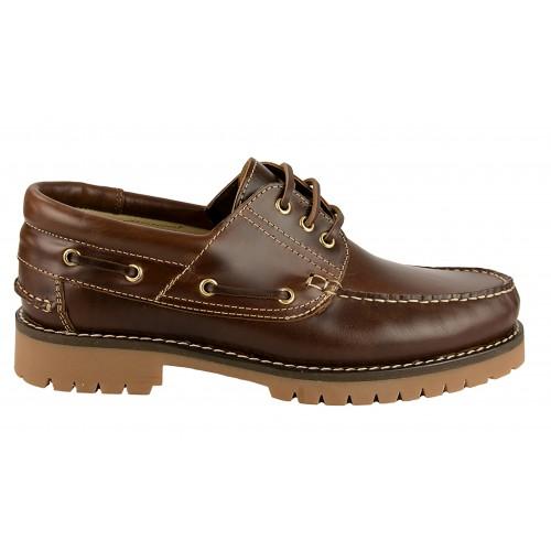 Chaussures bateau à lacets en cuir naturel Zerimar - 2