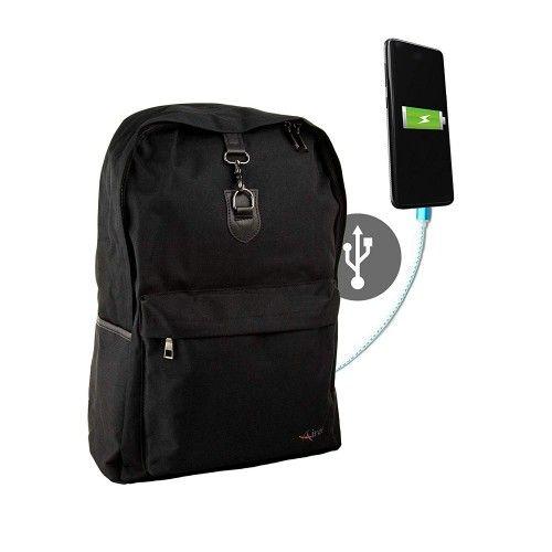 """Sac à dos connecteur usb pour ordinateur portable 15,6"""" 44x32x14 cm. Airel - 1"""