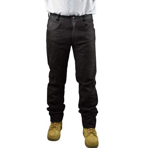 Pantalon de chasse en cuir antiaubépine Kenrod - 1