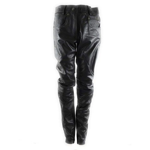 Pantalon en cuir pour femme avec cinq poches Kenrod - 1