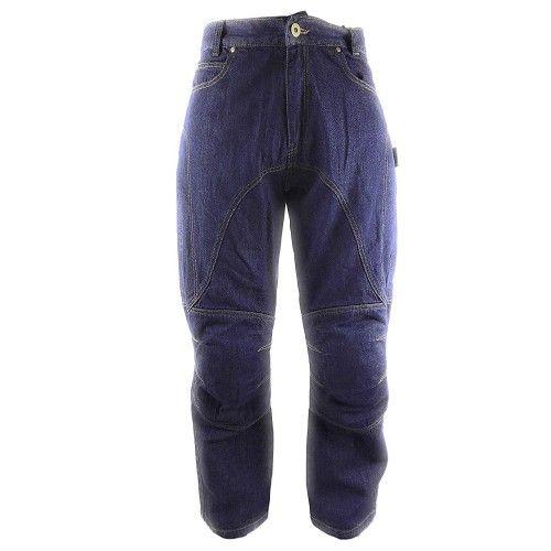 Pantalons jean pour moto avec protections couleur bleu marine Kenrod - 1