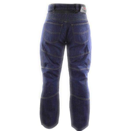 Pantalons jean pour moto avec protections couleur bleu marine Kenrod - 2