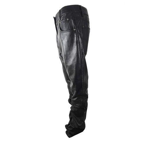 Pantalon motard en cuir Kenrod - 2